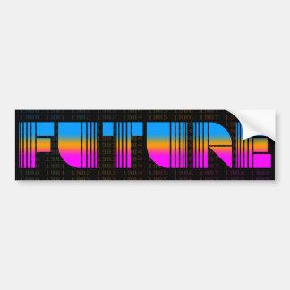 Corey Tiger 80s Vintage Style Future Bumper Sticker