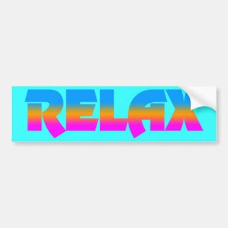 Corey Tiger 80s Vintage Style RELAX Bumper Sticker