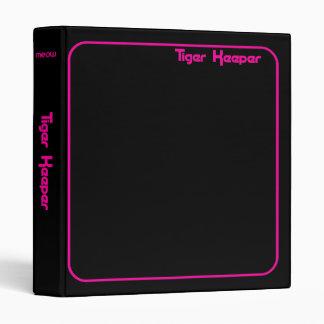 Corey Tiger 80s Vintage Tiger Keeper Black Fuschia 3 Ring Binder