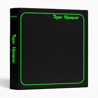 Corey Tiger 80s Vintage Tiger Keeper Black & Green Binder