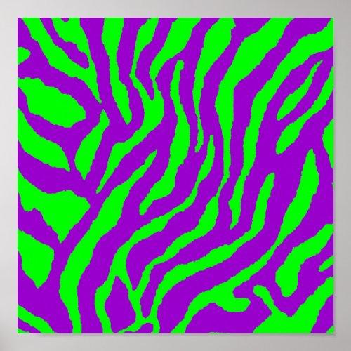 Corey Tiger 80s Vintage Tiger Stripes Poster