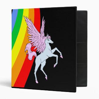 Corey Tiger 80s Vintage Unicorn Rainbow Binder