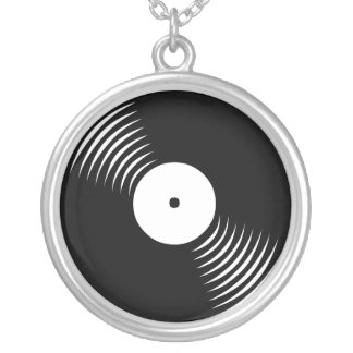 Corey Tiger 80s Vinyl Record Necklace