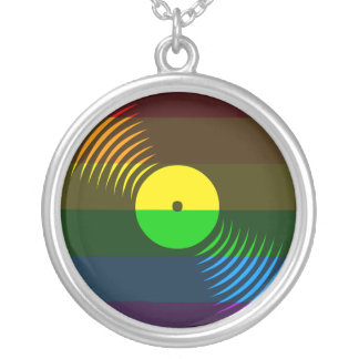 Corey Tiger 80s Vinyl Record Necklace (Rainbow)