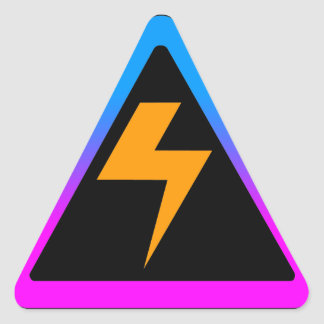 Corey Tiger 80s Zap Lightning Bolt Triangle Stickers