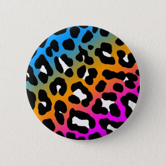 COREY TIGER EIGHTIES RETRO LEOPARD PRINT COLOURS PINBACK BUTTON