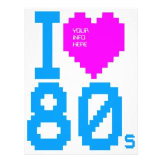 "Corey Tiger Retro ""I Love 80s"" 2 Sided Flyer"