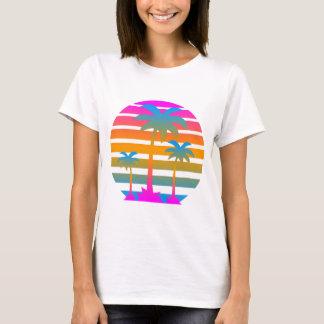 COREY TIGER RETRO SUNSET PALM TREES T-Shirt