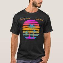 COREY TIGER RETRO SUNSET SPRING BREAK PARTY HARD T-Shirt