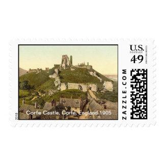 Corfe Castle, Corfe, England 1905 Postage