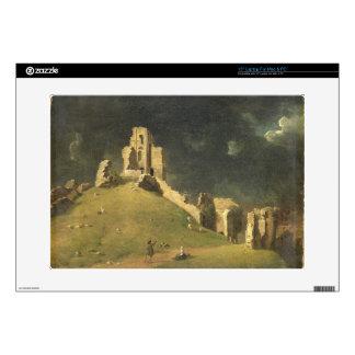"""Corfe Castle, Dorset, 1764 (oil on canvas) 15"""" Laptop Skins"""