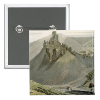 Corfe Castle, from 'A Voyage Around Great Britain Button