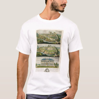 Corfe Castle in its original state, as a ruin, and T-Shirt