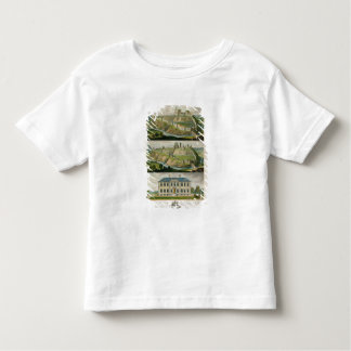 Corfe Castle in its original state, as a ruin, and Toddler T-shirt
