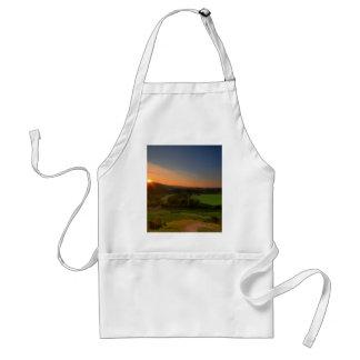 Corfe Castle Sunrise Adult Apron