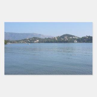 Corfu Coast Rectangular Sticker