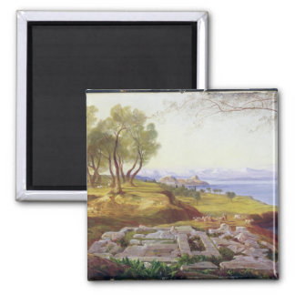 Corfu from Ascension, c.1856-64 (oil on canvas) Magnet