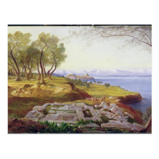 Corfu from Ascension, c.1856-64 (oil on canvas) Postcard