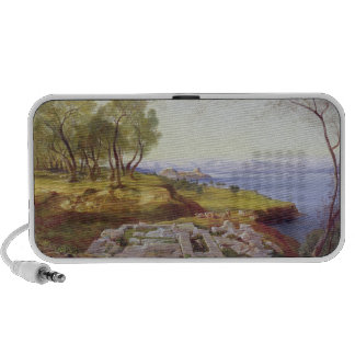 Corfu from Ascension, c.1856-64 (oil on canvas) Laptop Speaker