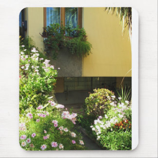 Corfu Greece Old Town Flowers Mouse Pad