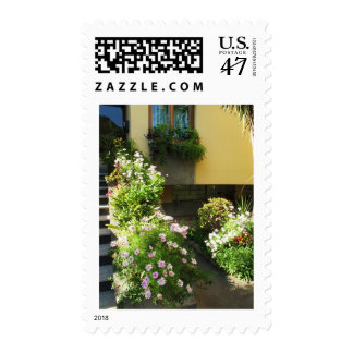 Corfu Greece Old Town Flowers Postage Stamp