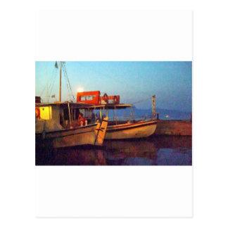Corfu Harbour At Night Postcard