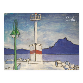 Corfu old fortress postcard