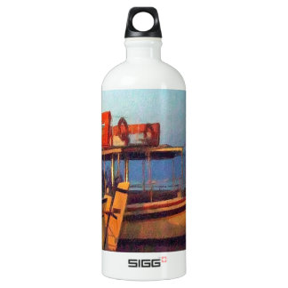 Corfu Town Harbour - Greek Harbour Aluminum Water Bottle