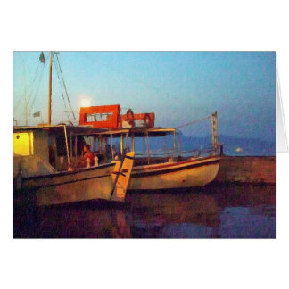 Corfu Town Harbour - Greek Harbour Card