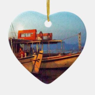 Corfu Town Harbour - Greek Harbour Ceramic Ornament