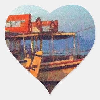 Corfu Town Harbour - Greek Harbour Heart Sticker
