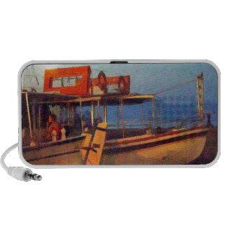 Corfu Town Harbour - Greek Harbour Laptop Speakers