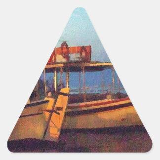 Corfu Town Harbour - Greek Harbour Triangle Sticker