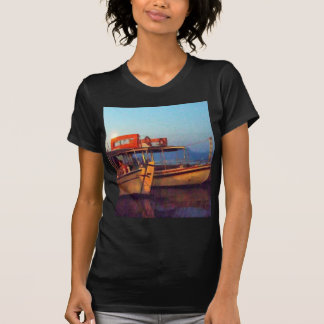 Corfu Town Harbour - Greek Harbour T Shirt