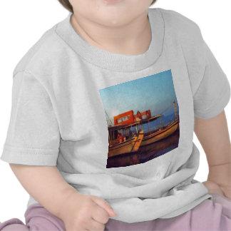 Corfu Town Harbour - Greek Harbour Tee Shirt