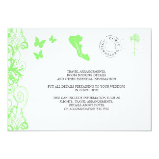 Corfu Wedding Travel Information Personalized Announcement