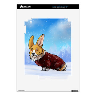 corgi 2 del suéter iPad 2 skins