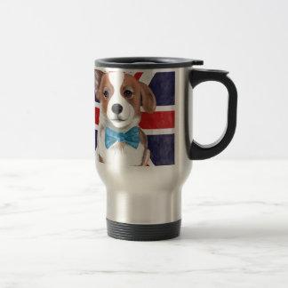 Corgi and Flag Travel Mug