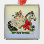 Corgi and Pony Christmas Ornament