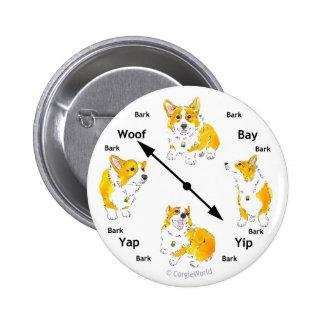 Corgi Bark-Clock Button