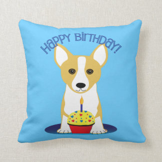 Corgi Birthday Throw Pillow