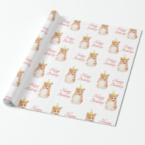 Corgi Birthday Wrapping Paper