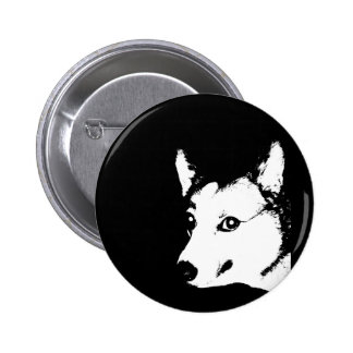 Corgi Black and White Art Photo Drawing Pinback Button