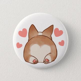 Corgi Butt Valentine's Day Button