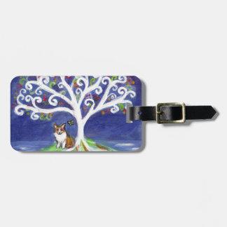 Corgi butterfly spiritual love tree bag tags