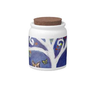 Corgi butterfly spiritual love tree candy dishes