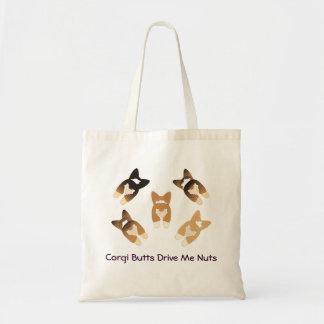 Corgi Butts Drive Me Nuts Budget Tote Bag