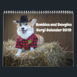 """Corgi Calendar 2019<br><div class=""""desc"""">Bruiser and Gus/Bumbles and Dawgins are dressed for each month of the year! Holidays and seasons corgi style!</div>"""