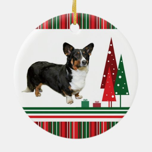 stocking corgs ceramic christmas ornament corgi christmas ornament - Corgi Christmas Ornaments