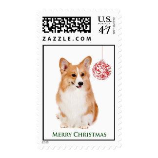 Corgi Christmas Postage Stamps